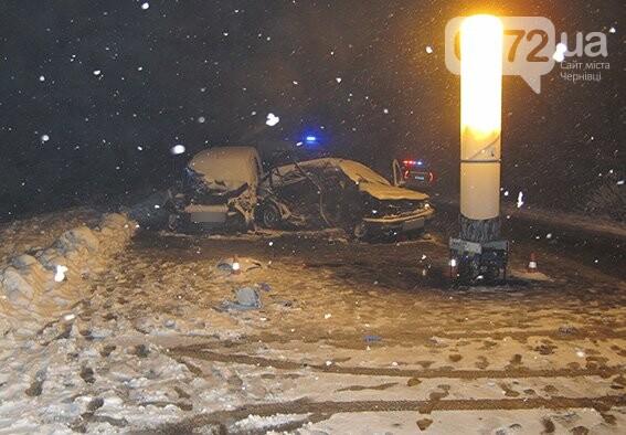 На Буковині зіткнулися два автомобілі на єврономерах - загинув чоловік, фото-1