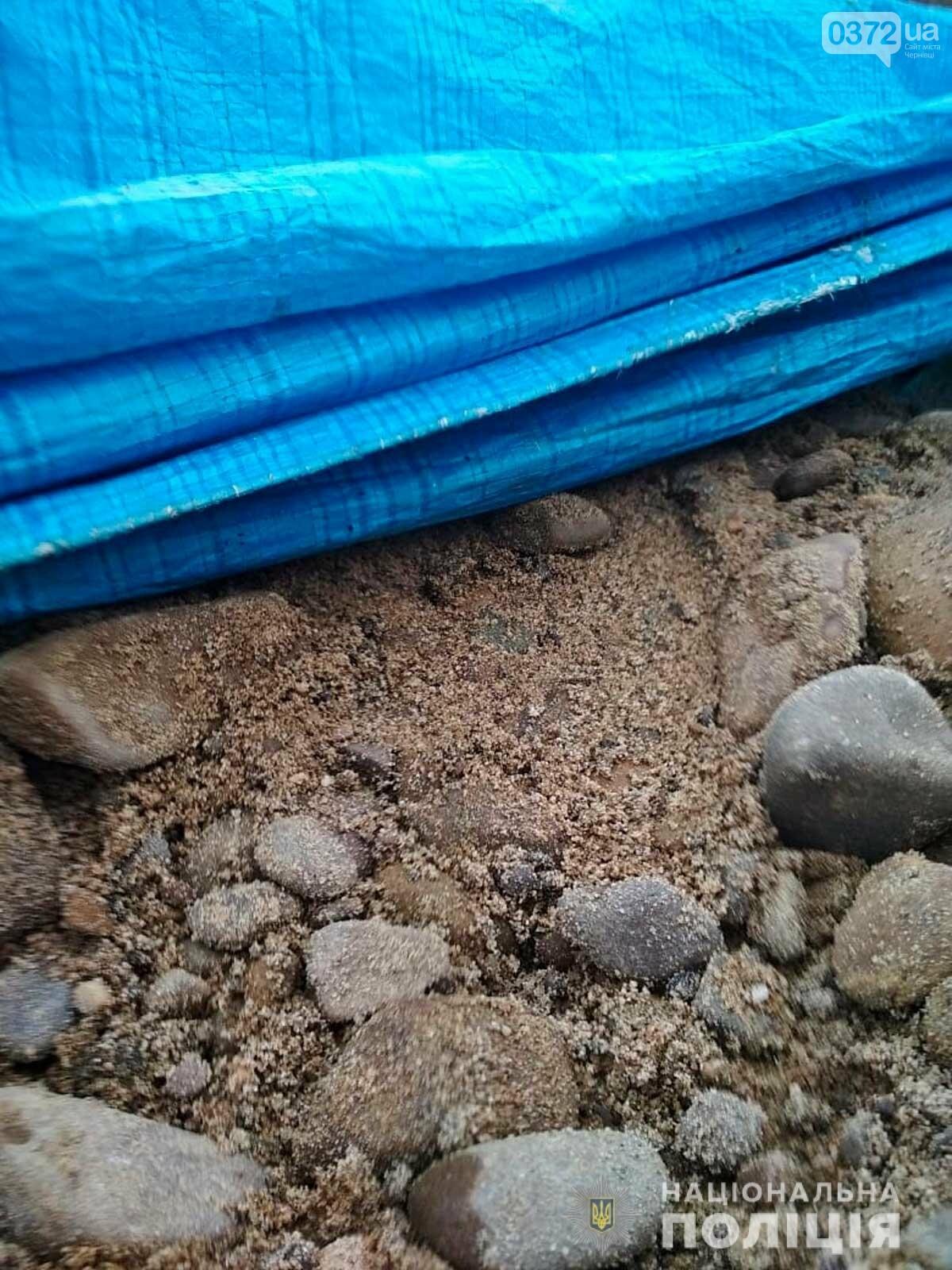 На Кіцманщині поліцейські виявили факт незаконного перевезення піщано-гравійної суміші, фото-2