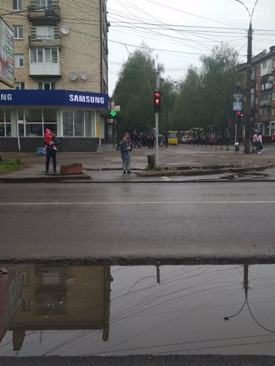 В Чернівцях на проспекті Незалежності затопило пішохідний перехід, фото-2