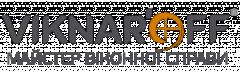 """Логотип - Viknar'off, (Вікнар'off), виробник вікон і дверей - салон """"Фаворит"""" Чернівці"""