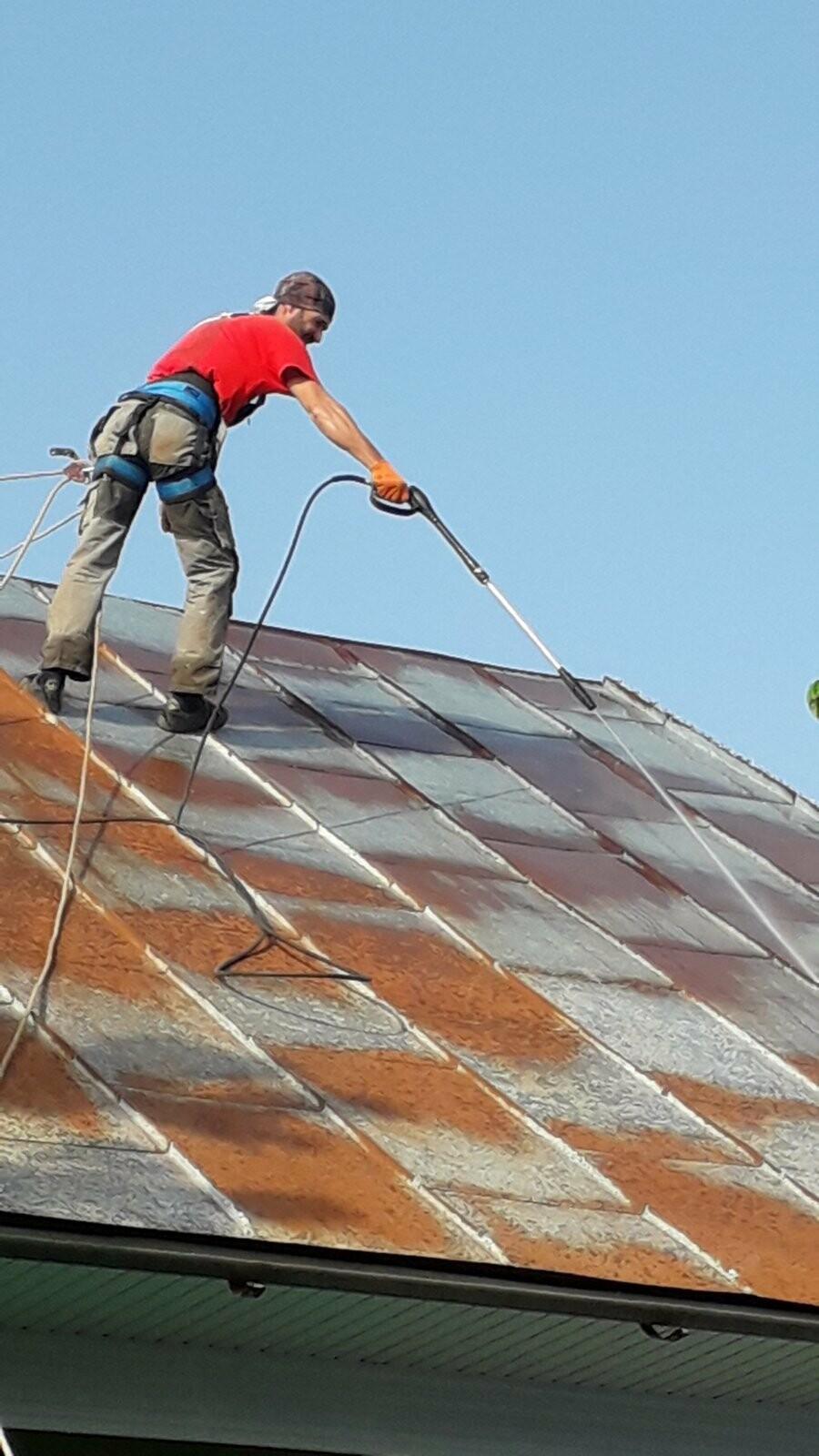 Захід-Пром Альп, фарбування дахів