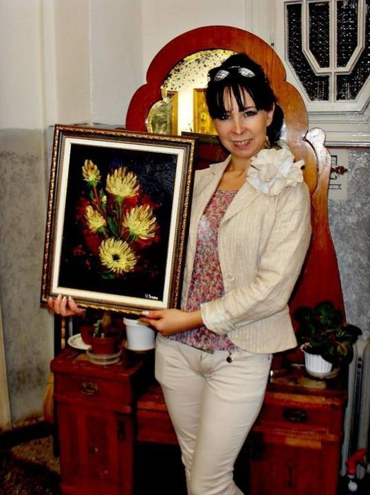 Переселенка з Донбасу, яка проживає у Чернівцях, малює картини праскою (ФОТО), фото-6