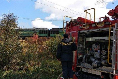 Загорівся вантажний локомотив на Буковині - фото, фото-1