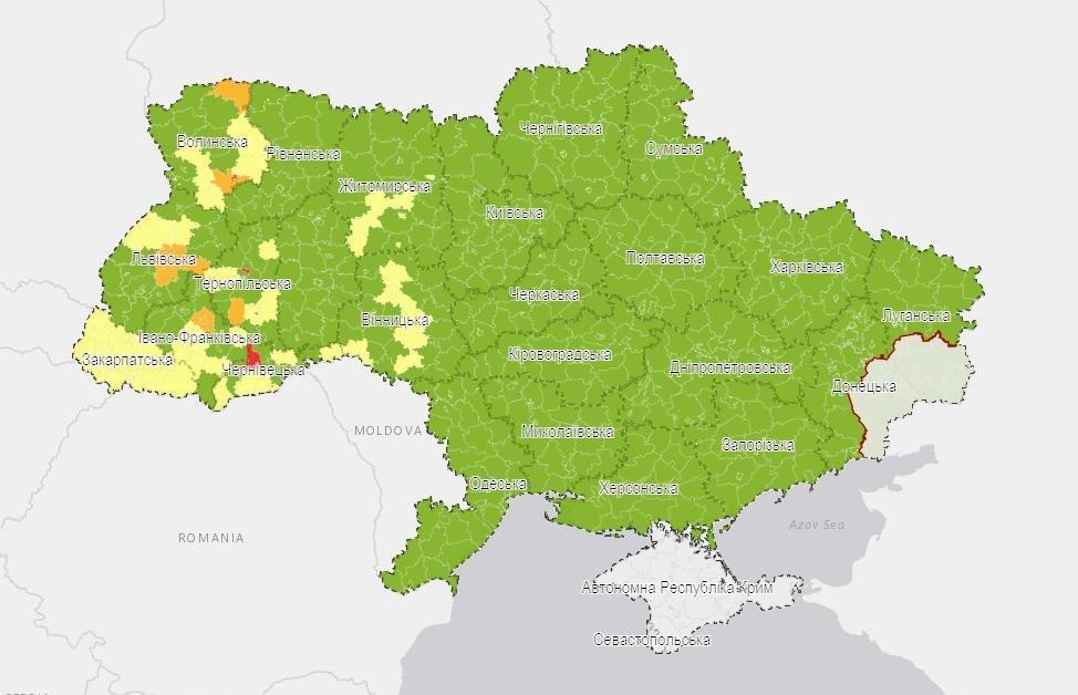 До червоної зони увійшов Кіцманський район Чернівецької області - МОЗ