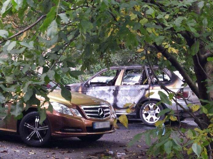 Пожежа у авто на вулиці Руській Фото з телеграм-каналу ХЧ