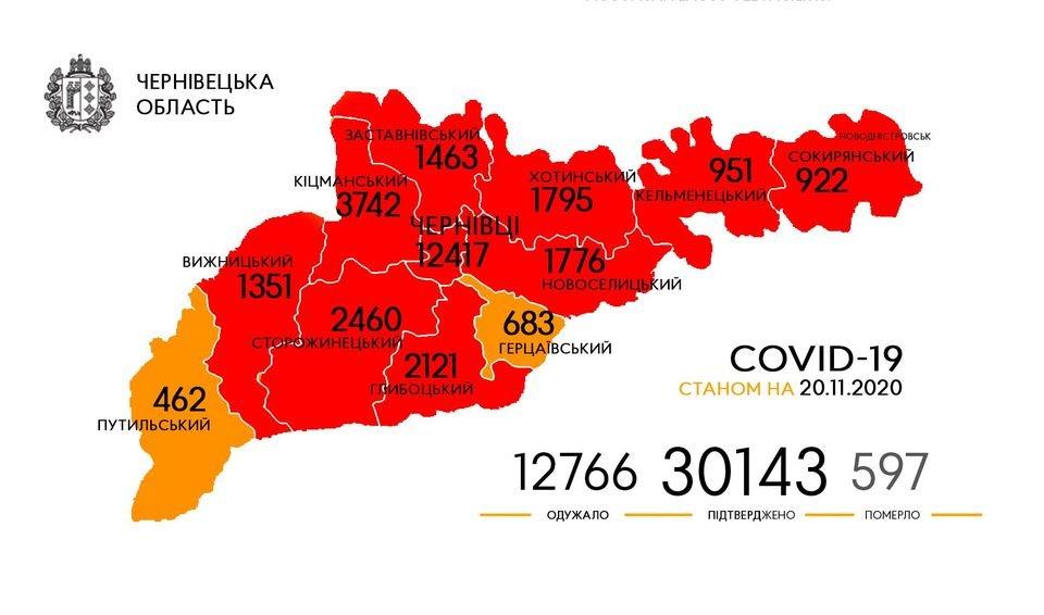 Географія поширення коронавірусу, Фото: Чернівецька ОДА