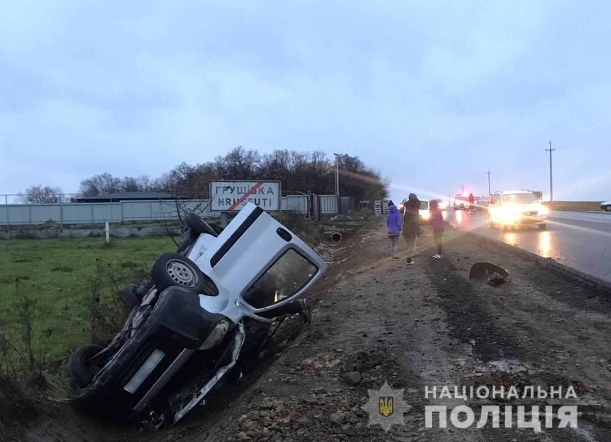 ДТП на Глибоччині, фото з сайту поліції Чернівецької області