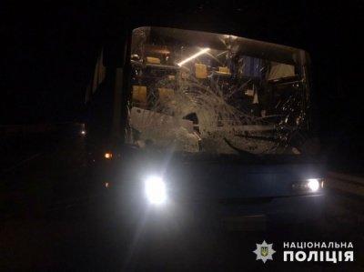 автобус ДТП, фото пресслужби Миколаївської Національної Поліції