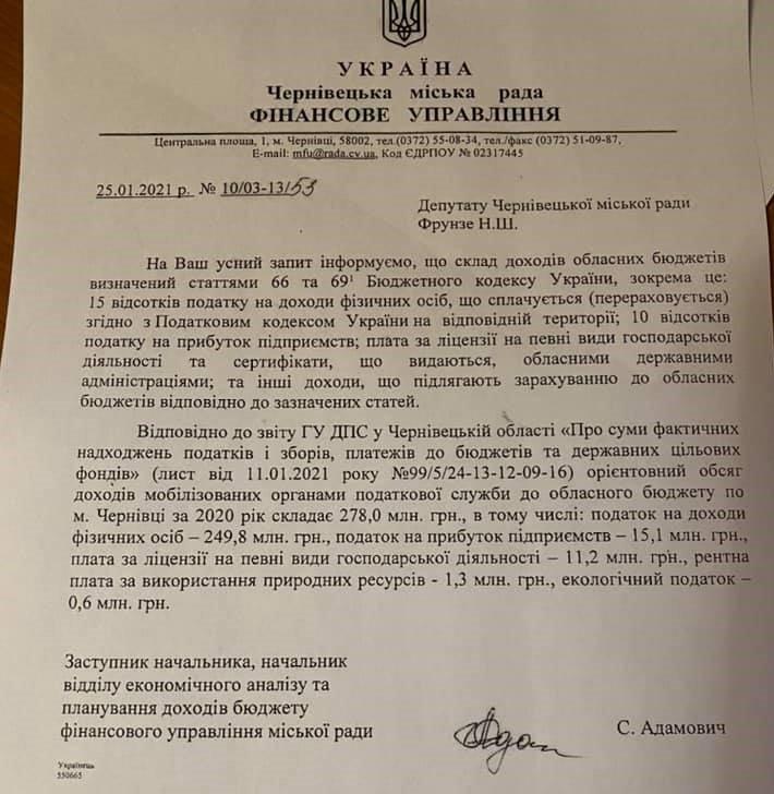 Тридцять три мільйони на дороги планують просити у Чернівецькій міськраді, фото-1, фото з фейсбук-сторінки Наталії Фрунзе