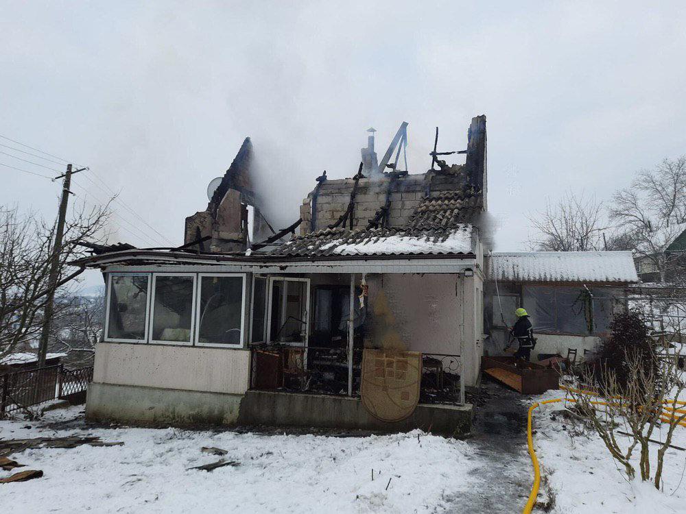 місце пожежі, фото з сайту УДСНСУ у Чернівецькій області