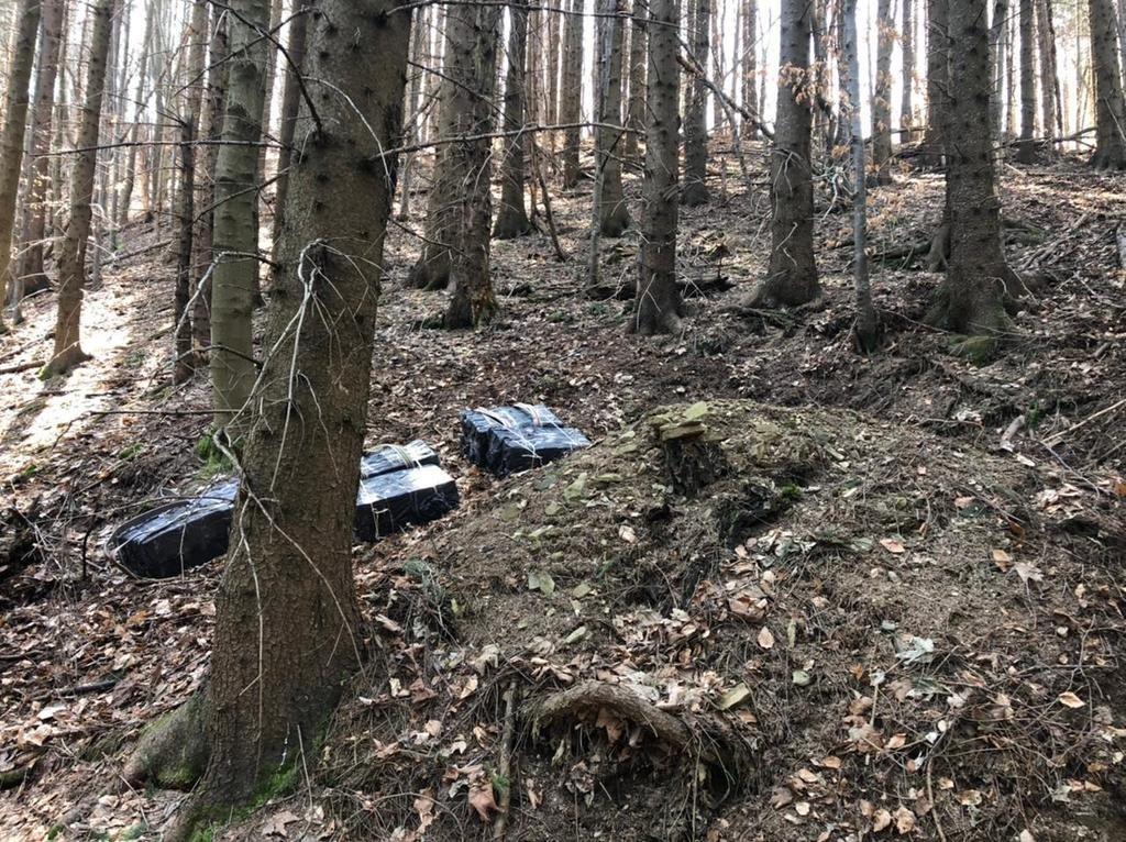 схованка з сигаретами у лісі