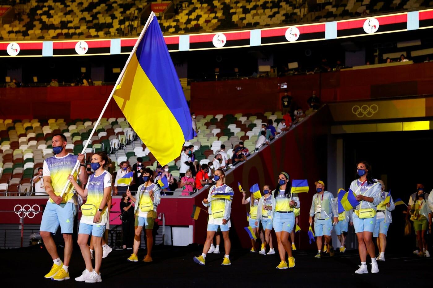 церемонія відкриття Олімпіади у Токіо - вихід української збірної