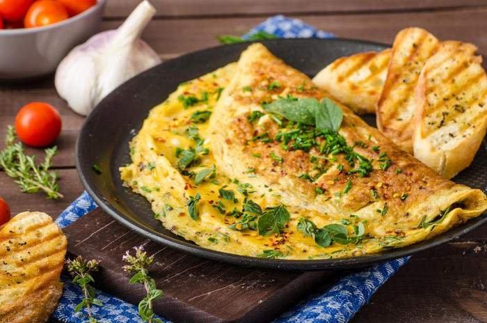 омлет зі шпинат - улюблена страва до сніданку